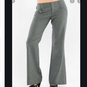 Alice & Olivia gray wool wide leg work pants | 4